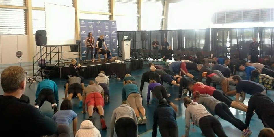 SHEILA PRESENTING AT THE RICHMOND OLYMPIC OVAL AT THE REGIONAL NSCA CONFERENCE AUGUST 2015